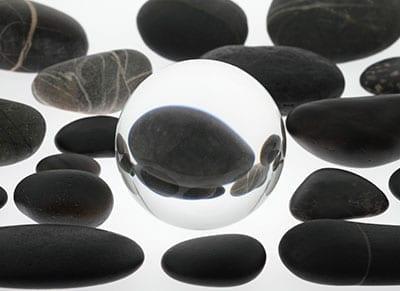 rocks around crystal opt