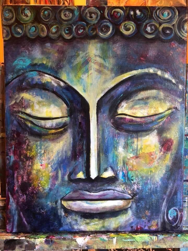 Buddah Face Blue 2